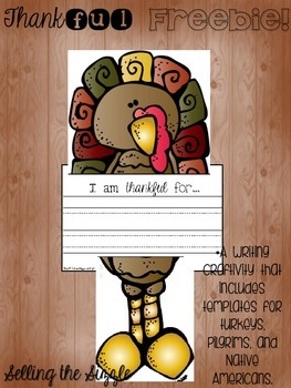 Thanksgiving Writing Craftivity FREEBIES!