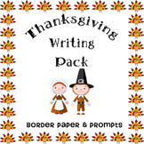 Thanksgiving Writing Pack -- Cute Turkey Border Paper & Fi