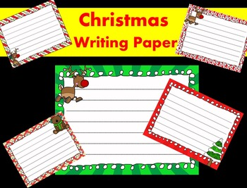 Christmas Writing Papers - Personal & Commercial use