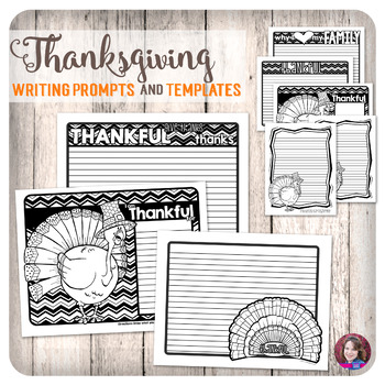 Thanksgiving Writing Prompts and Blank Templates with Dood