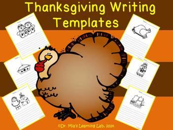 Thanksgiving Descriptive Writing & Story Templates for Kin