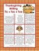 Thanksgiving Writing - Tic Tac Toe