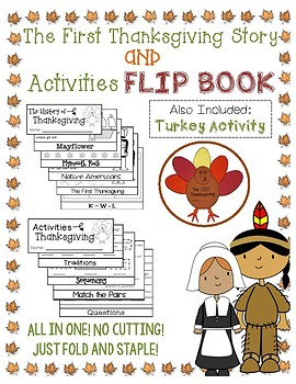Thanksgiving and Activties Flip Books