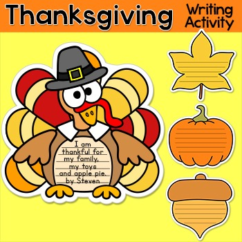 Thanksgiving Writing Activities - Turkey Bulletin Board Th