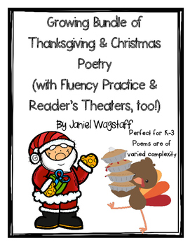Thanksgiving & Christmas Poetry Growing Bundle Fluency Pra