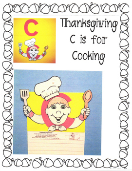 Thanksgiving c is for cooking from Alphabet Art Lower Case