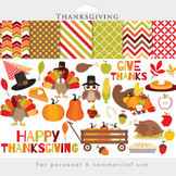 Thanksgiving clipart - thanks giving clip art turkey fall