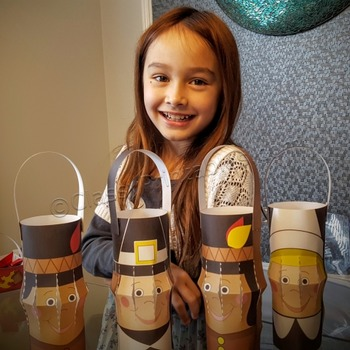 Thanksgiving crafts activities printable lanterns FREE col