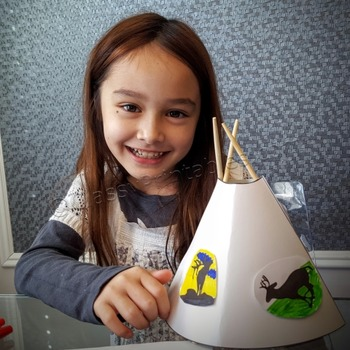 Printable teepee crafts for kids FREE coloring pages Thank