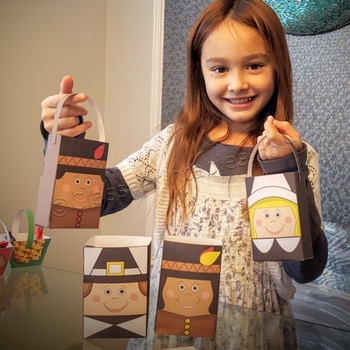 Thanksgiving crafts for kids treat bags FREE coloring page