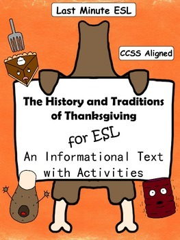 History and Traditions of Thanksgiving Informational Text