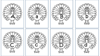 Thanksgiving letter match & numbers 1-10
