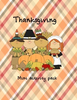 Thanksgiving mini activity pack