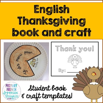 Thanksgiving mini book and craft template - English
