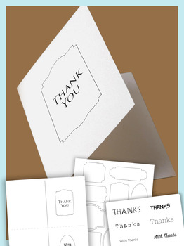 Thanksgiving,Winter Holiday thank-you card kit: tags,clip-