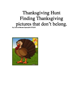 Thanksgiving themed Following direction worksheets