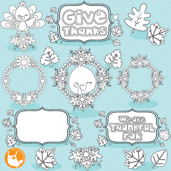 Thanksgiving turkey stamps commercial use, vector graphics