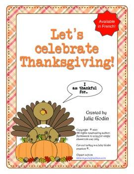 Thanksgiving activity noun poem