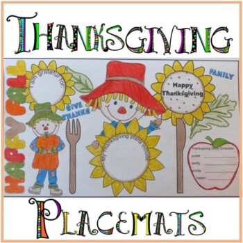 Thanksgivng Crafts - Placemats