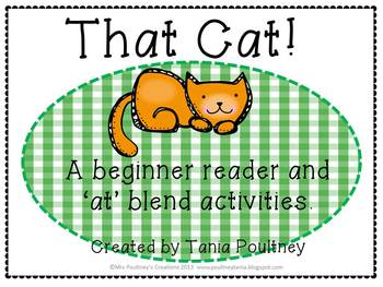 """Emergent Reader That Cat- an""""at"""" blend reader and activities."""