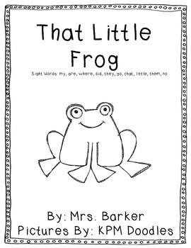 That Little Frog {An Emergent Reader}