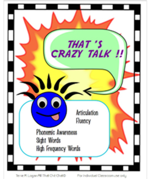 That's Crazy Talk! Game: Phonemic Awareness, Fluency and A
