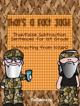 That's a Fact Jack!  True/False Subtraction Sentences for