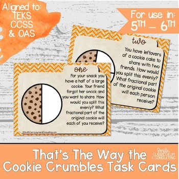 That's the Way the Cookie Crumbles Task Cards- Multiplying