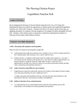 Thawing Chicken Logarithmic Task