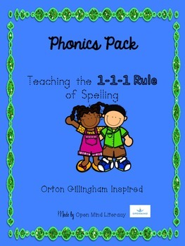 The 1-1-1 Rule of Spelling Phonics Pack:  Practice + Word