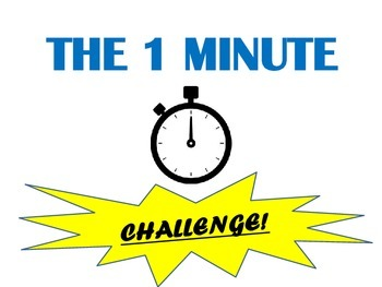 The 1 Minute Challenge!  Classroom Movement Break Activity
