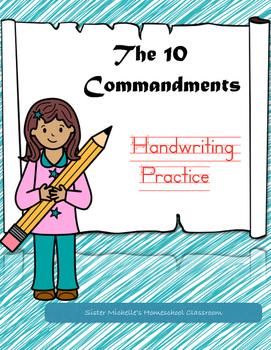 The 10 Commandments Handwriting Practice