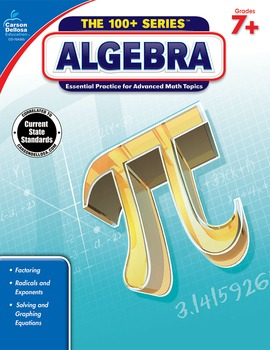 The 100+ Series Algebra Grades 7-9 SALE 20% OFF 704385