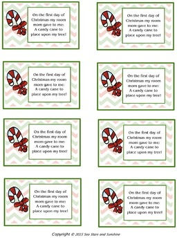 The 12 Days of Christmas...A Poem & Gift Idea
