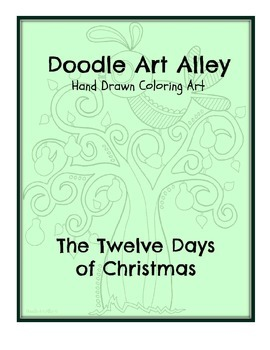 The 12 Days of Christmas Coloring Ebook