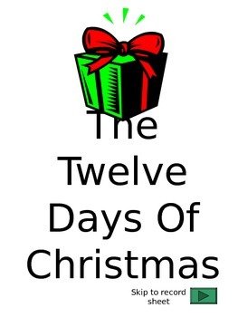 The 12 Days of Christmas Project (PowerPoint Version)