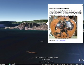 The 12 Labors of Hercules - Google Earth tour + worksheets