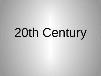 The 20th Century: 1980-1989 Power Point