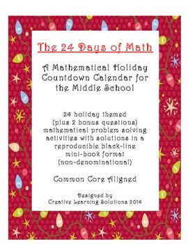 The 24 Days of Math: Problem-A-Day Holiday Mini-book for M