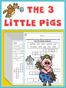 The 3 Little Pigs  Puzzle Fun
