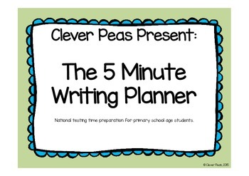The 5 Minute Writing Planner