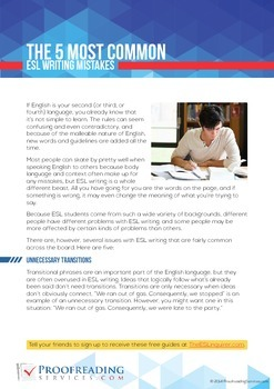 The 5 Most Common ESL Writing Mistakes