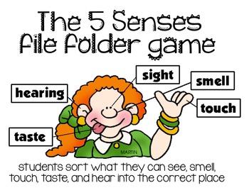 The 5 Senses File Folder Game [Sight, Touch, Taste, Smell,