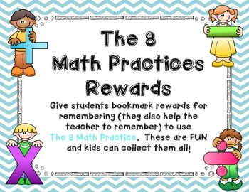 The 8 Math Practices Rewards - Common Core