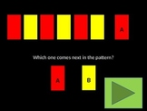 The ABAB Pattern Game (red and yellow only)