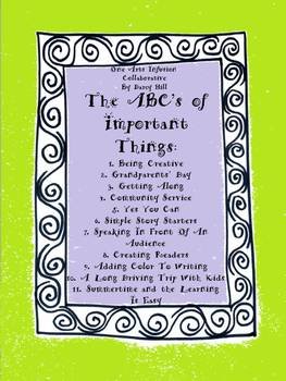 The ABC's of Important Things Wall Art Set of 4