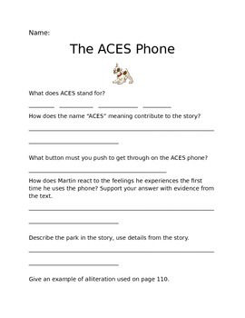 The ACES Phone Questions (Journeys Common Core Grade 6 Uni
