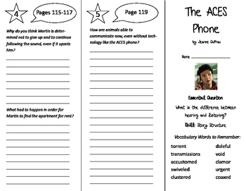 The ACES Phone Trifold - Journeys 6th Grade Unit 1 Week 4