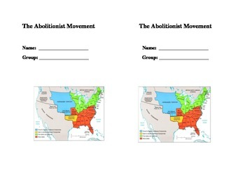 The Abolitionist Movement interactive notes for Journal 4t