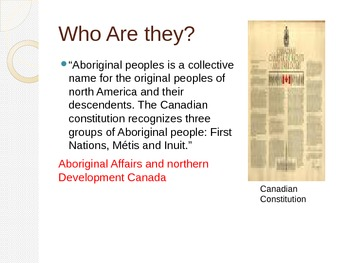 The Aboriginal People Of Canada
